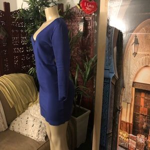 bebe Dresses - Bebe cage back bandage blue dress size M